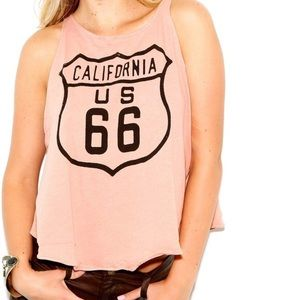 WILDFOX Route 66 Graphic Tank Top